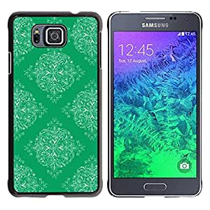 Paccase / SLIM PC / Aliminium Casa Carcasa Funda Case Cover para - Pattern Wallpaper Art Vintage Green - Samsung GALAXY ALPHA G850