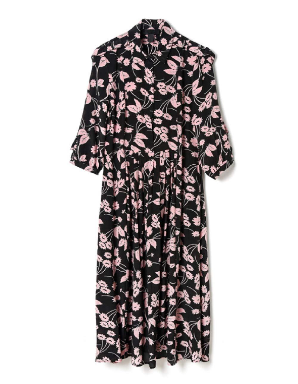 Black Summer Dress Female Long Section Silk Slim Lady Temperament Dress