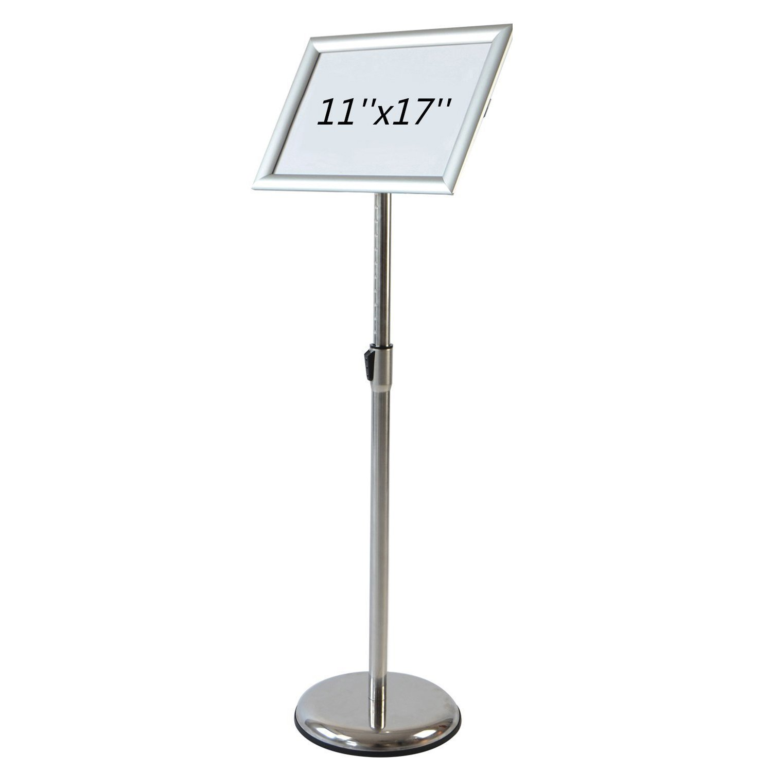 AboutDisplay Adjustable Pedestal Poster Stand with Rotating & Tilting Snap open Frame (for 11'' x 17'' Menus, Posters & Signs), Vertical and Horizontal Sign Displayed ...