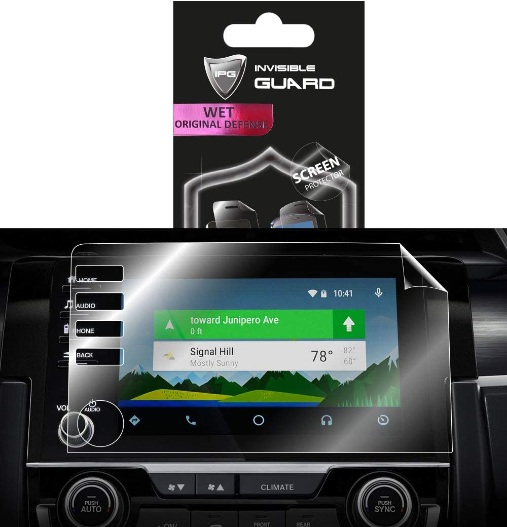 IPG for Honda Civic 2019-2020 Audio Touchscreen Navigation System Radios Screen Protector Invisible Ultra HD Clear Film Anti Scratch Guard 4 Button Version Smooth//Self-Healing//Bubble -Free