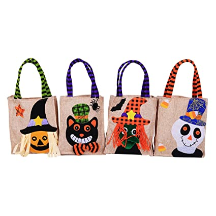 Amazon.com: BESTOYARD 4pcs Halloween Candies Goody Bags ...