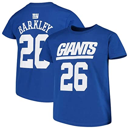 Outerstuff Saquon Barkley New York Giants NFL Team Apparel Youth 8-20 Blue  Official Player 679801868