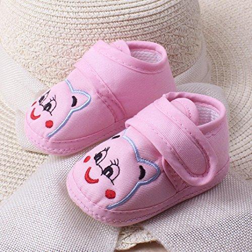 Igemy 1 Paar Baby Mädchen Jungen Soft Sole Cartoon Anti-Rutsch Kleinkind Schuhe Rosa