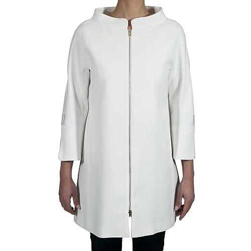 HERNO – Cappotto donna bianco in cotone CA0149D