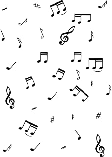 image regarding Music Note Printable titled Songs Notes - Black with White Be aware Print - Pack of 20