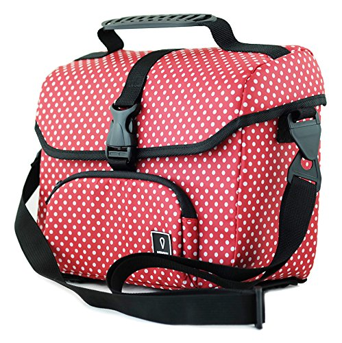 Vincita B017B Mini Front Bag for Brompton Folding Bike (Red Polka Dot) (Bicycle Folding Brompton)