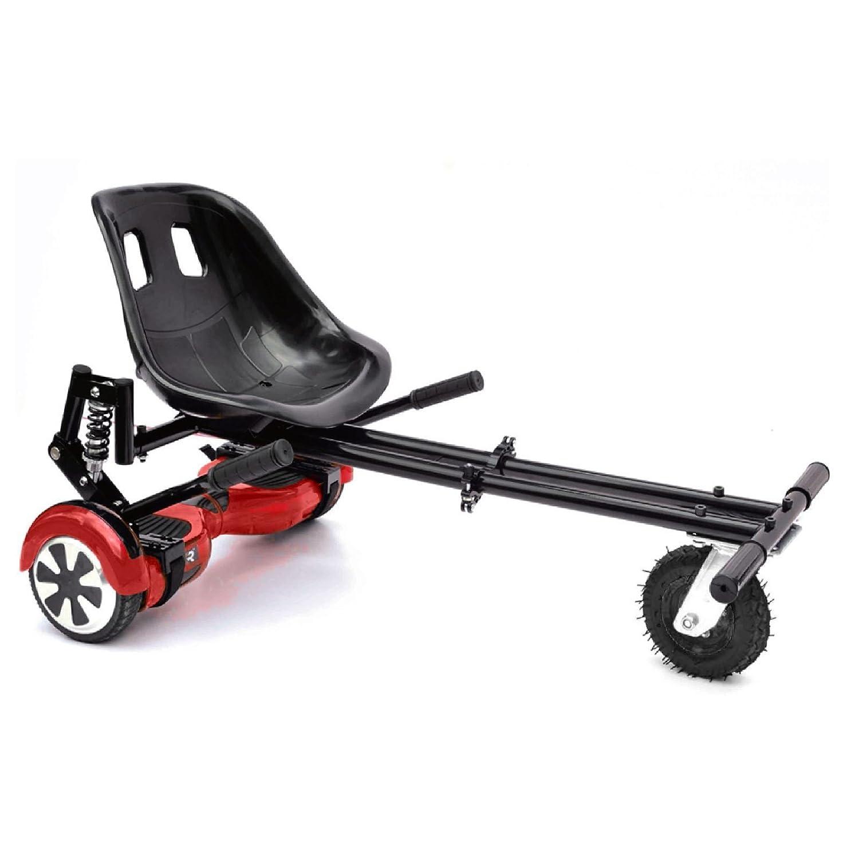 ASAB Hoverboard Go Kart Sitz | Einstellbare hoverkart Conversion Kit | swegway zu Elektro Scooter | 15, 2 cm Rad fü r Alle Gelä nde | Warenkorb fü r Hover Board Rot