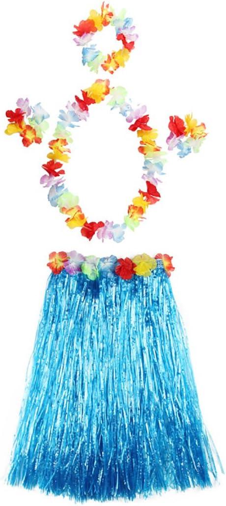 Fascigirl Vestido Hula Falda Hawaiana Playa de Verano de PláStico ...