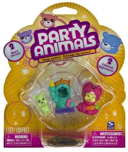 [Party Animals 2 Mini Bears Liberty of World Tour and Bunny of Pet Party Collection] (Liberty Bell Costumes)