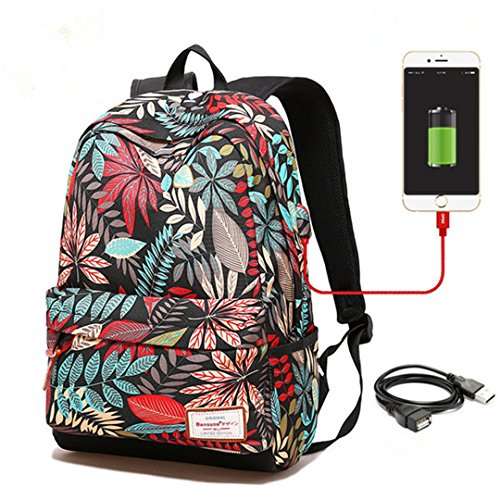 SHUB Women Usb Charging Laptop Backpack For Teenage Girls Sc