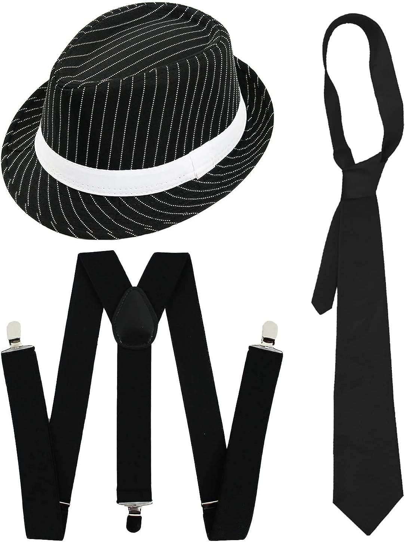 Bianco Gangster Suit Costume Rapper Al Capone Outfit XL da Uomo Adulto