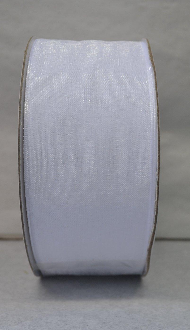 Nastro in organza BIANCO 40 mm x 50 metri
