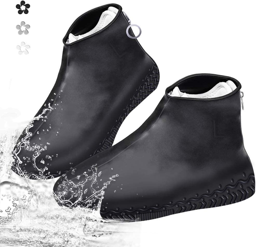 Reusable Shoe Covers Protectors Overshoes Silicone Nonslip Rain Boot Safety