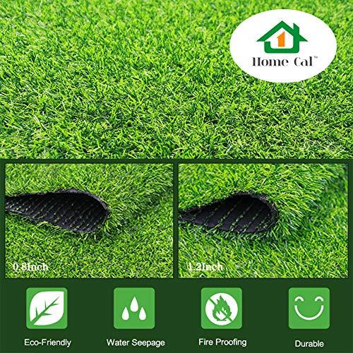 "(Home Cal Artificial Grass Rug Series Landscape Indoor/Outdoor Decorative Synthetic Turf Pet Area Door Mat 3cm 40""x28"" Spring Grass)"