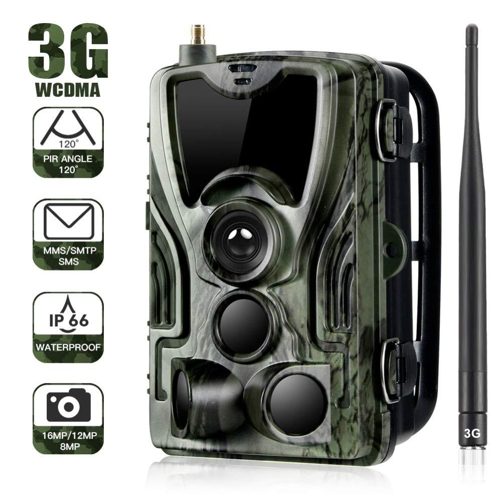 Gfyee 3G Wildkamera Mit Bewegungsmelder Nachtsicht Handy/üBertragung 16MP 1080P Full HD Fotofallen GSM Jagdkamera 120 /° Weitwinkelobjektiv 36IR LED IP66 Wasserdicht f/ür Jagd Garten und Tieren