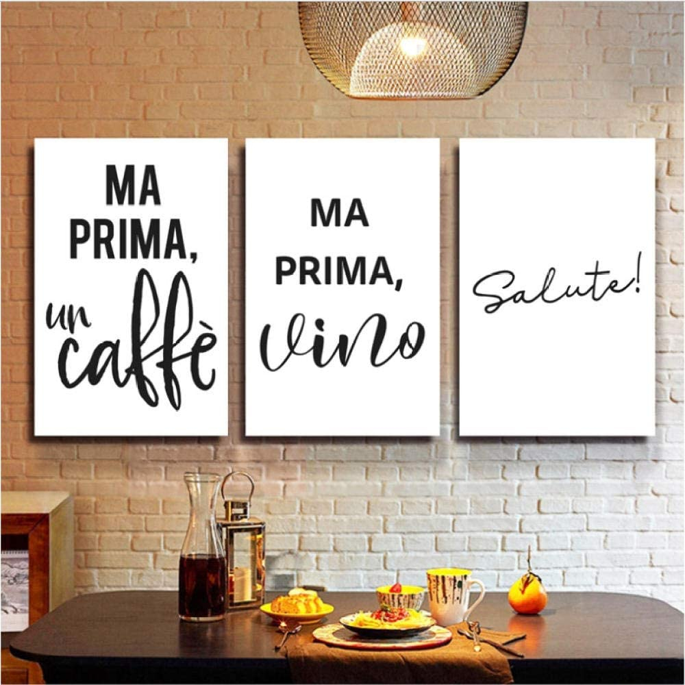 asasI9 Coffee Wine Quotes Italian Typographic Posters and Prints ...