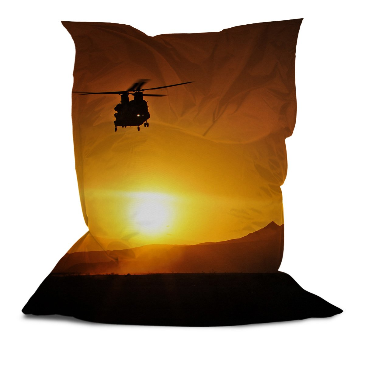 Branded Bean Bag with Printed Helicopter (5' x 4.4')