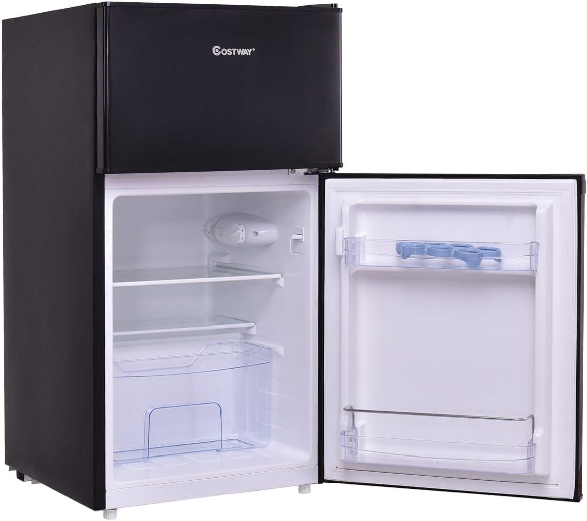 costway Frigorífico con congelador Stand Frigorífico Congelador ...