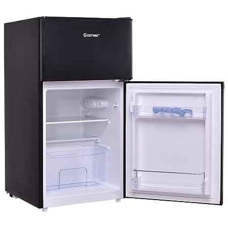 Mini Nevera refrigerador 95L A+ doble puerta congelador con luz ...