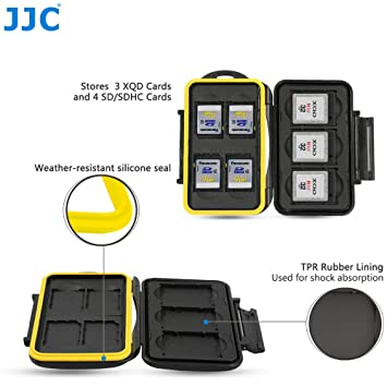 JJC MC-XQDSD7 Fundas para Tarjetas de Memoria para 4 x SD y 3 x XQD Cards