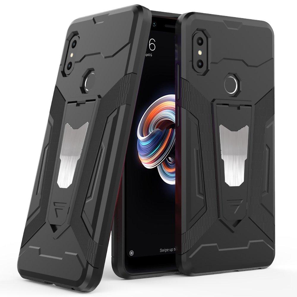 Ferilinso Funda Xiaomi Redmi Note 5,H/íbrido Armadura Holster Defender Protecci/ón Corporal Completa Heavy Duty Hard Bumper Case con Kickstand y Soporte Funci/ón de Montaje magn/ético del Coche (Negro)