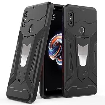 Ferilinso Funda Xiaomi Redmi Note 5,Híbrido Armadura Holster Defender Protección Corporal Completa Heavy Duty Hard Bumper Case con Kickstand y Soporte ...