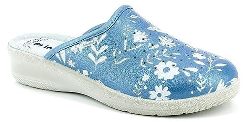 INBLU Pantofole SANITARIE da Donna MOD. 50-51 Azzurro  Amazon.it ... ccd327ccacc