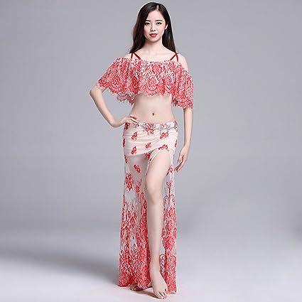Xueyanwei Professional Women Belly Dance Dress Belly Dance Practice Dress Big Swing Skirt Indian Dance Show