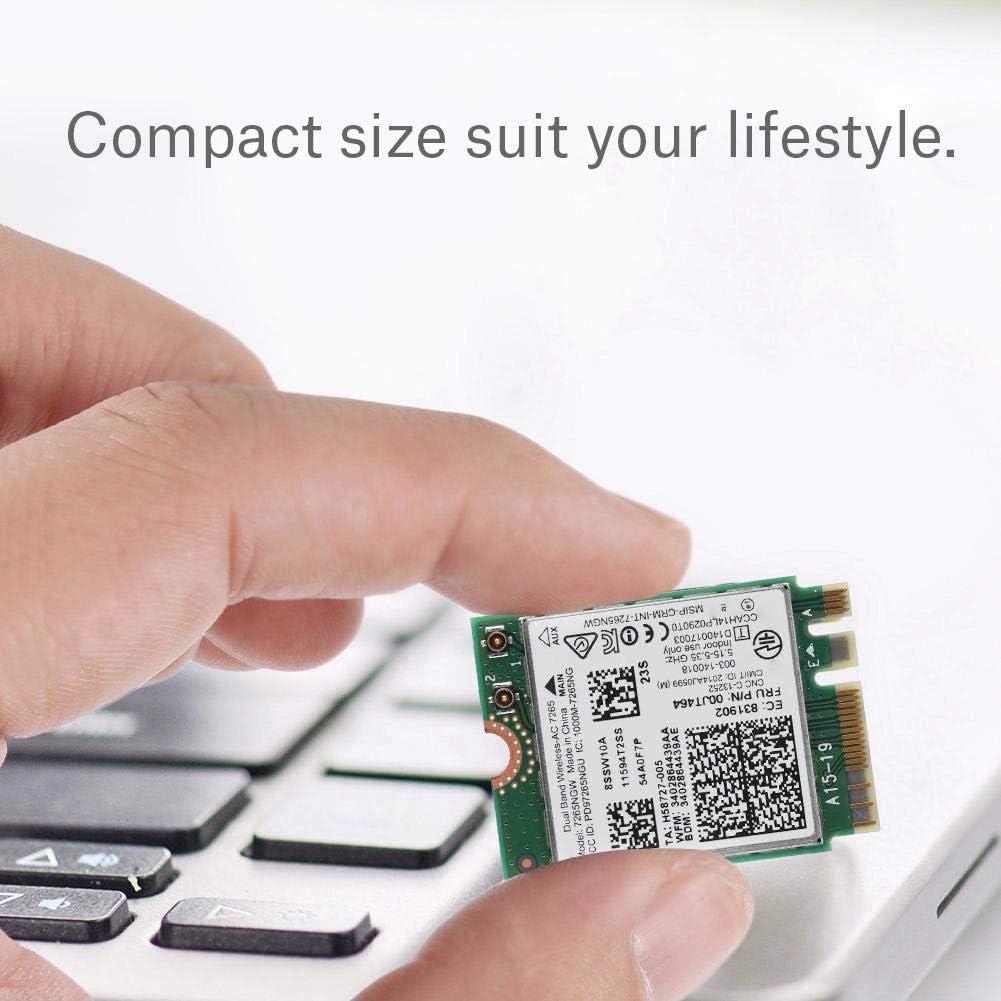 Bluetooth 4.0 802.11 A//B//G//N//AC,2.4G//5G Dual Band Bewinner 7265 AC Dual Band Wireless 867M Network Card NGFF//M2 Wifi Wireless Card for ThinkPad