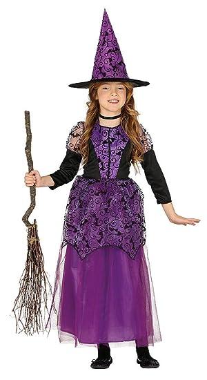 Guirca grafoplas Disfraz Bruja niña 5/6 años, Color Negro y ...