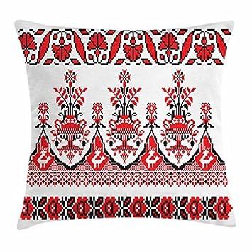 Amazon.com: Ukrainian Throw Pillow Cushion Cover, Embroidery ...