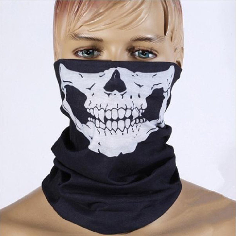 bda0e0e3e570 Masque Squelette Masques de crâne Écharpes de Balaclava crâne Bandanas  Masques Crâne Poussière Protection Tubulaire Masque Bandana Moto Polyester  Écharpe ...