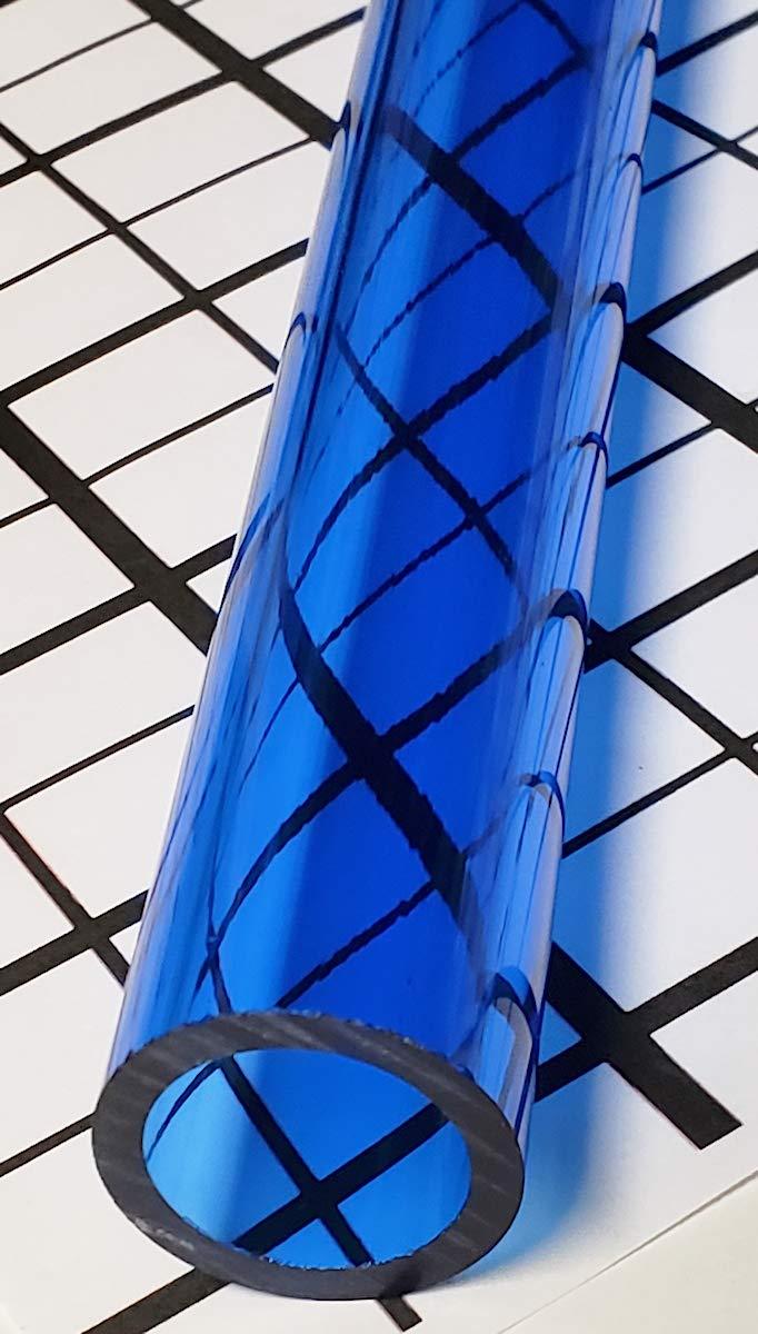 1 OD x 3//4 ID x 36 1 Pc 1 Diameter x 36 Long Clear Blue Translucent Acrylic Plexiglass Lucite Tube