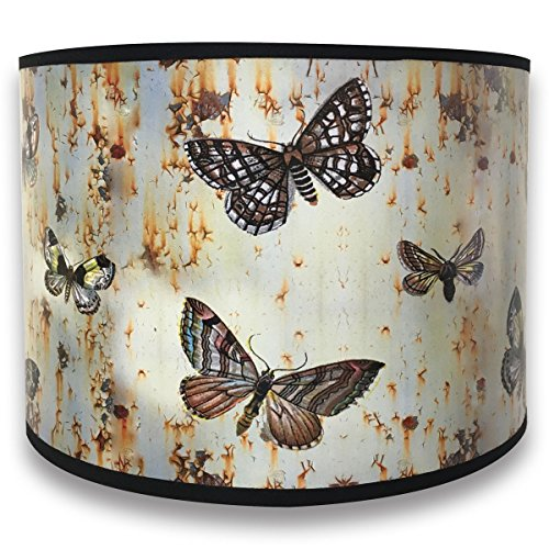 Royal Designs Modern Trendy Decorative Handmade Lamp Shade - Made in USA - Butterfly Graphic Design - 10 x 10 x 8 ()