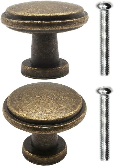 26/x 24/mm fuxxer/ Design vintage Bronze Laiton Meuble Cuisine Buffet /2/x Poign/ées Style maison de campagne Boutons Lot de 2/avec vis