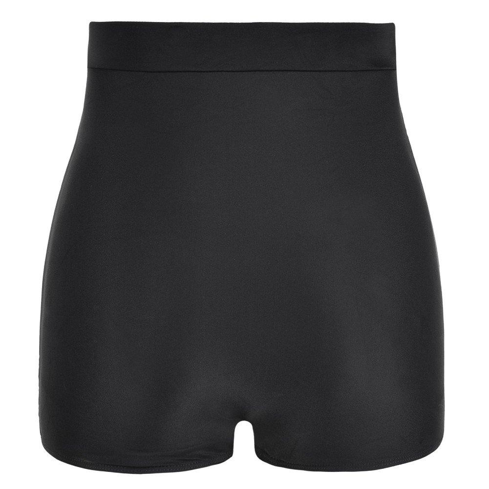7680ba8f8cf Amazon.com  Mycoco Women s Super High Waist Swim Shorts Shirred Tummy  Control Tankini Bottom Swimwear Brief  Clothing