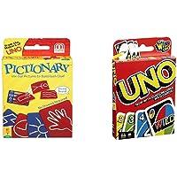 Mattel Pictionary Card Game & Mattel Uno Playing Card Game