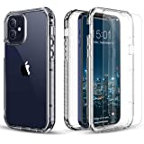 """FLOVEME for iPhone 12 Mini Case Clear 5.4"""" 2020, Full Body Protective iPhone 12 Mini Case with Screen Protectors [2-Pack iPho"""