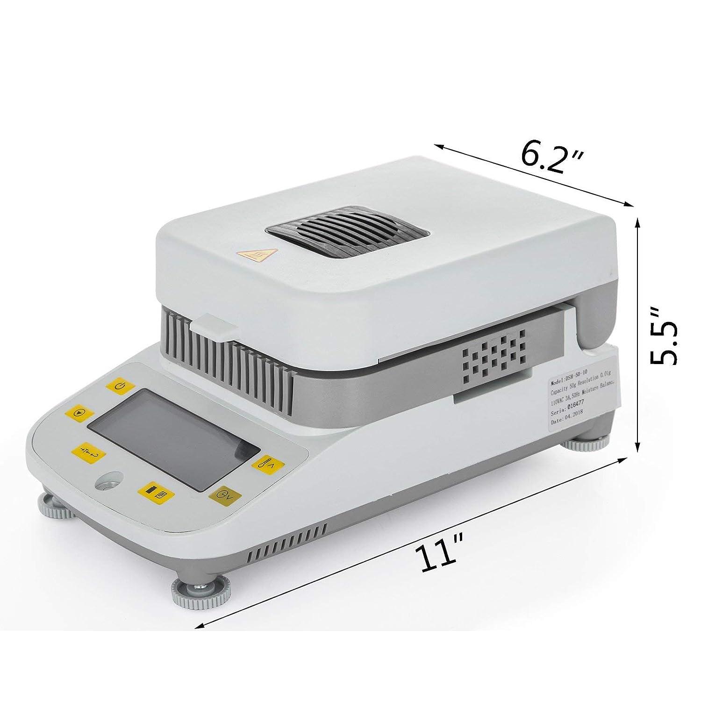 VEVOR Moisture Analyzer 0.5g-50g Lab Moisture Analyzer with Halogen Heating for Rapid Moisture Test