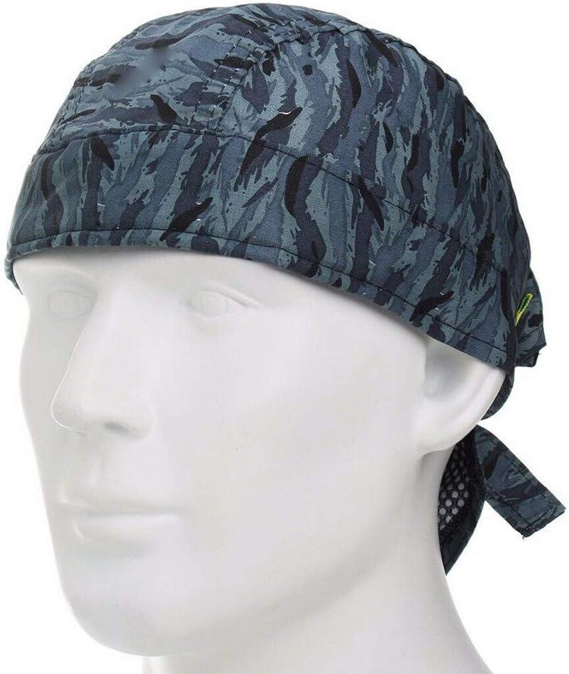 Gorra de soldadura Azul Moda Retardante de llama Cómodo Sombrero ...