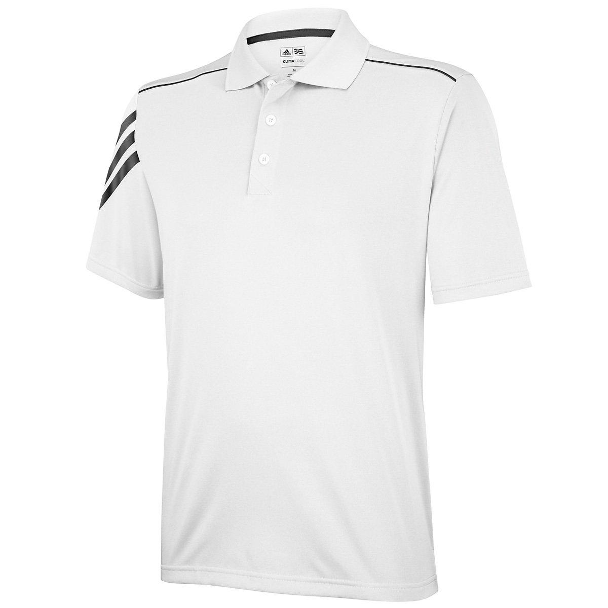 adidas 3-Stripes Climacool Golf Polo Camiseta de, Color Blanco ...