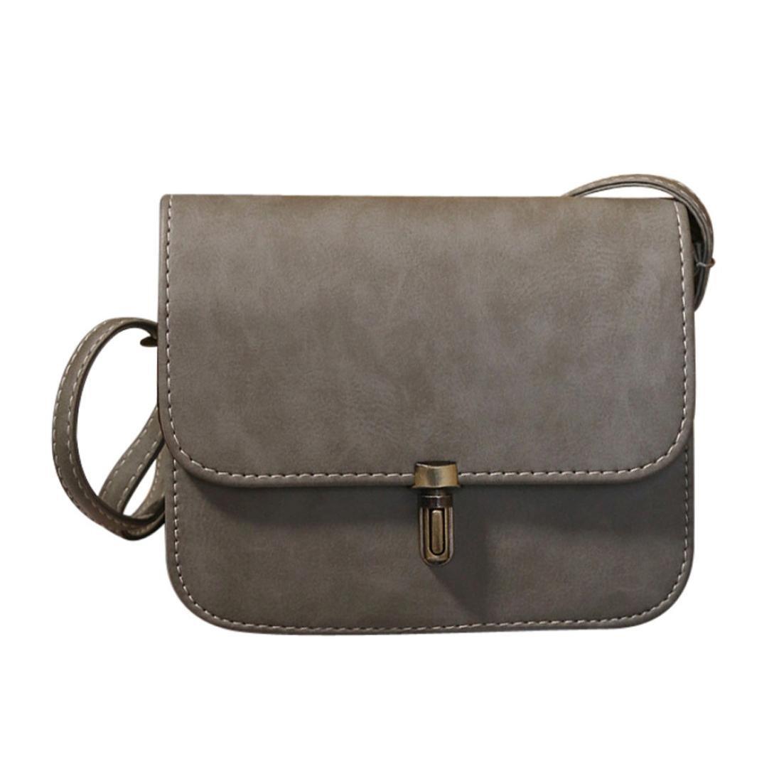 Amazon.com: FDelinK Women Lady Satchel Handbag Leather Shoulder Bag Tote Messenger Crossbody Bag (Black): Clothing
