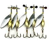 Hengjia Lot 5naufragio Spinner cucchiaio esca artificiale esche hard esca per trota bass luccio Tackle le attrezzature di pesca 16.3g/10