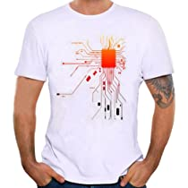 Camiseta Hombre Camisetas de impresión de Tallas Grandes de Hombres Chico niños Camiseta de Manga Corta Blusas Tops Polos Camisas Blusa (Blanco, 2XL): Amazon.es: Deportes y aire libre