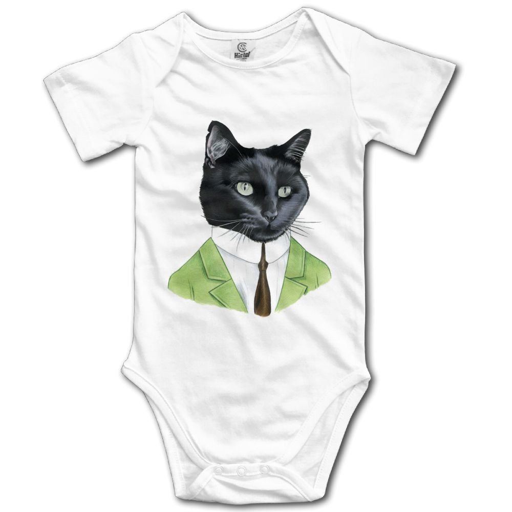 Rainbowhug Black Cat Animals Man Unisex Baby Onesie Cartoon Newborn Clothes Funny Baby Outfits Comfortable Baby Clothes