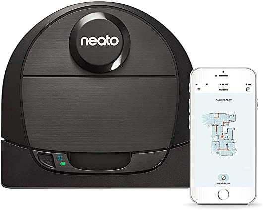 Neato Robotics D6 Connected Laser Guided Smart Robot Vacuum – Wi-Fi Connected, Multi Floor Mapping, Ideal for Carpets, Hard Floors and Pet Hair, Works with Alexa
