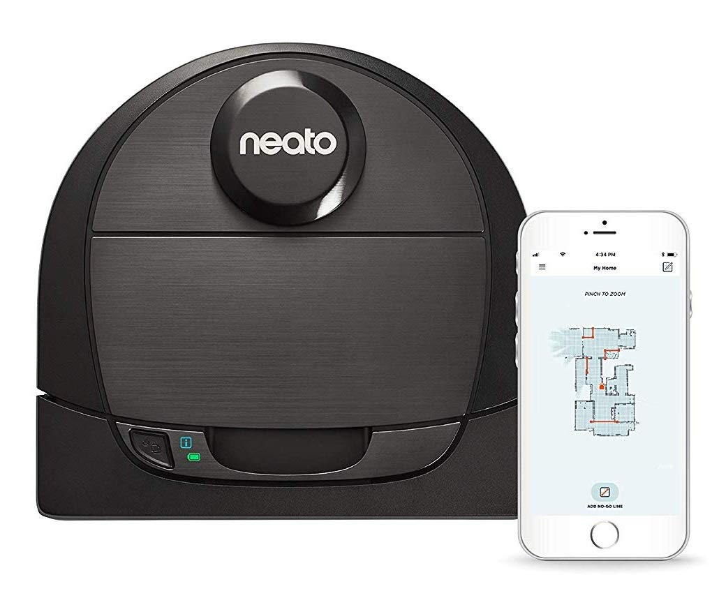 Neato Robotics D6 Connected Laser Guided Smart Robot Vacuum - Wi-Fi Connected, Multi Floor Mapping, Ideal for Carpets, Hard Floors and Pet Hair, Works with Alexa by Neato Robotics
