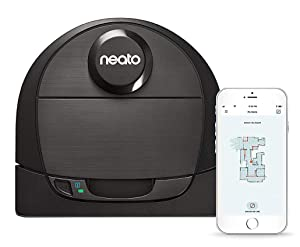 Neato Robotics D6 Connected Laser Guided Robot Vacuum for Pet Hair, Works with Amazon Alexa Black