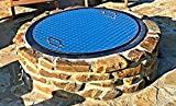 40″ Round Flat Aluminum Wood-Gas Fire Pit Ring Cover Lid