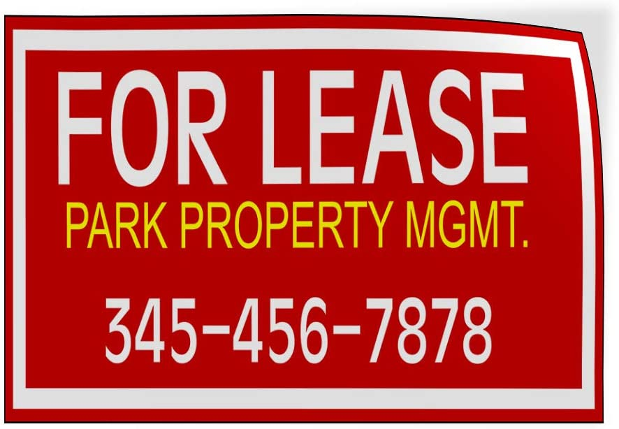 Custom Door Decals Vinyl Stickers Multiple Sizes for Lease Park Property MGMT Number Red Business for Lease Outdoor Luggage /& Bumper Stickers for Cars Red 60X40Inches 1 Sticker